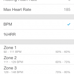 Setting up heart rate zones in the App