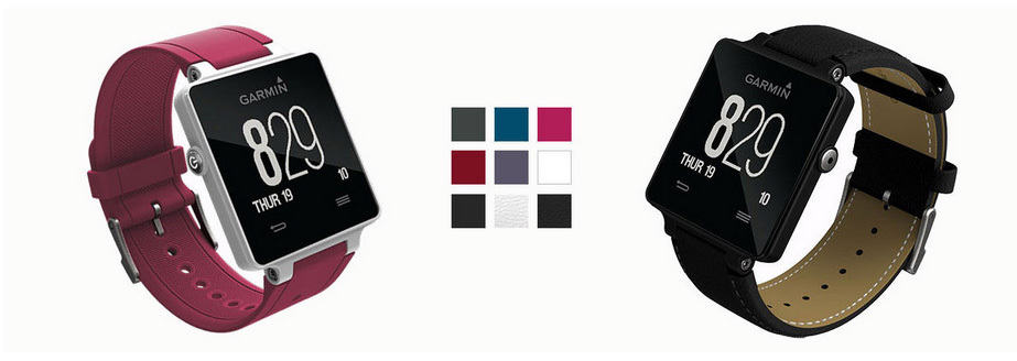 Optional coloured straps to personalise your Garmin Smartwatch