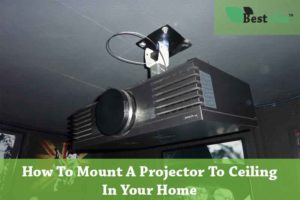 how to mount a projector to ceiling